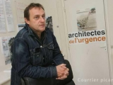 Patric Coulombel ARCHITECTES DE L\'URGENCE Foto: Fred HASLIN